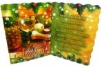 Мини-открытки С НОВЫМ ГОДОМ! лак + глиттер 90*60 Арт - 00021 оптом