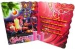Мини-открытки С НОВЫМ ГОДОМ! лак + глиттер 90*60 Арт - 00029 оптом