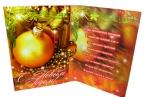 Мини-открытки С НОВЫМ ГОДОМ! лак + глиттер 90*60 Арт - 00045 оптом