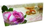 Приглашения на свадьбу ГЛИТТЕР 63*120 Арт. - 00162 оптом