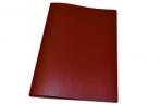 Папка с зажимом inФОРМАТ А4 красный пласт карман оптом