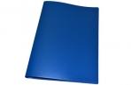 Папка с зажимом inФОРМАТ А4 синий пласт карман оптом