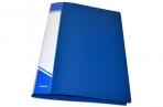 Папка с прижимами inФОРМАТ 1 зажим А4 синий пластик 0, 75 мм карман оптом