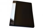 Папка с прижимами inФОРМАТ 1 зажим А4 черный пластик 0, 75 мм карман оптом