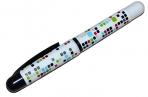 Ручка перьевая синяя 0. 8мм корпус ассорти с рисунком DEVENTE 5100701 оптом
