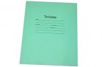 Тетрадь 18линия Маяк офсет, с полями, зеленая обложка оптом