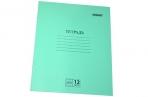Тетрадь Зелёная обложка 12л. ПИФАГОР, офсет №2, клетка с полями, 104984 оптом