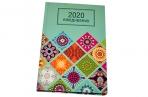 2020 Ежедневник датированный 2020 А5, ламинированная обложка, Орнамент, 145*215мм, BRAUBERG, 110912 оптом