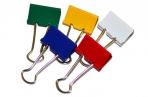 Зажимы для бумаг 25мм, Berlingo, цветные, картонная коробка оптом