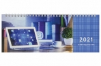 2021 Планинг датированный 2021 (285х112мм), STAFF, картонная обложка на спирали, 60л, Бизнес, 111829 оптом