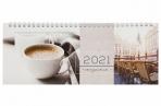 2021 Планинг датированный 2021 (285х112мм), STAFF, картонная обложка на спирали, 60л, Кофе, 111830 оптом