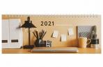 2021 Планинг датированный 2021 (285х112мм), STAFF, картонная обложка на спирали, 60л, Офис, 111831 оптом