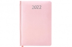 """2022 Ежедневник датированный 2022 А5 138x213 мм BRAUBERG """"Profile"""", балакрон, светло-розовый, 112767 оптом"""