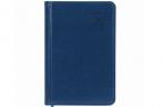 2022 Ежедневник датированный 2022 МАЛЫЙ ФОРМАТ 100х150мм А6, BRAUBERG Imperial, под кожу, синий, 112 оптом