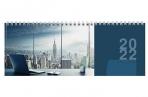 """2022 Планинг датированный 2022 (285х112 мм), STAFF, гребень, картонная обложка, 60 л., """"Мегаполис"""", оптом"""