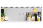 """2022 Планинг датированный 2022 (285х112 мм), STAFF, гребень, картонная обложка, 60 л., """"Офис"""", 11335 оптом"""