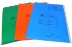 Папка-скоросшиватель A4 ДЕЛО № картонная цветная мелованная (300 гр/м2), ассорти оптом