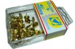 Кнопки /J. Оtten/ 50шт, 108BL, золото, пластик. коробка, европодвес /10 /0 /400 оптом