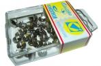 Кнопки /J. Оtten/ 50шт, 107BL, никелир., пластик. коробка, европодвес /10 /0 /400 оптом