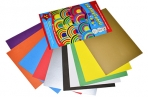 Картон цветной А4 немелованный ВОЛШЕБНЫЙ, 10л. 10цв., в папке, обложка лак, АППЛИКА, 205х290мм, С0010 оптом