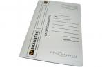 Скоросшиватель карт. мел. BRAUBERG, гарант. пл. 320г/кв. м., белый, до 200л. оптом