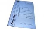 Скоросшиватель карт. мел. BRAUBERG, гарант. пл. 360г/кв. м., синий, до 200л. оптом