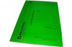 Скоросшиватель карт. мел. BRAUBERG, гарант. пл. 360г/кв. м., зеленый, до 200л. оптом