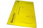 Скоросшиватель карт. мел. BRAUBERG, гарант. пл. 360г/кв. м., желтый, до 200л. оптом