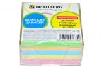 Блок для записей BRAUBERG в подставке прозрачной, куб 9*9*5 см, цветной, 122226 оптом