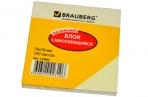 Блок самоклеящ. 76*76 мм 100л., желтый, BRAUBERG оптом