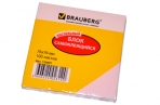 Блок самоклеящ. 76*76 мм 100л., розовый, BRAUBERG оптом