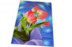 """Папка адресная ламинир. выбор. лак """"Поздравляем с юбилеем"""" (тюльпаны на синем), фА4, А4086/П оптом"""