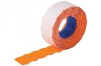 Этикет-лента 22*12мм волна, оранжевая, 800 шт/рул., BRAUBERG оптом