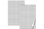 Блок бумаги для флипчарта BRAUBERG, 20 л., клетка, 67, 5*98 см, 80 г/м, 124097 оптом