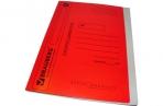 Скоросшиватель карт. мел. BRAUBERG, гарант. пл. 360г/кв. м., красный, до 200л. оптом