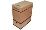 Накопитель документов, Лоток-коробка BRAUBERG, 150 мм, бурый, до 1400л., 124849 оптом