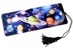 """Закладка д/книг 3D BRAUBERG, объемная, """"Вселенная"""", с декоративным шнурком-завязкой, 125757 оптом"""