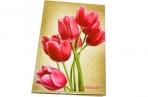 Блокнот 7БЦ А5 96л., обл. ламин., кл., BRAUBERG, Цветы, 135*206мм, 126112 оптом