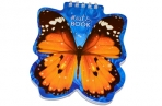 Блокнот А6 60л., гребень, фигурная высечка, HATBER, Бабочка, 60Б6Aгр_09680 (B136126) оптом
