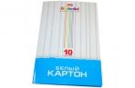 Картон белый А4 МЕЛОВАННЫЙ, 10 листов, в папке, HATBER, 205х295 мм, Creative Set, 10Кб4 05806, N049716 оптом
