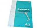 Бумага масштабно-координатная HATBER, А3, 295*420мм, голубая, на скобе 8л., 8Бм3_02285 (N002711) оптом