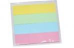 Закладки клейкие STAFF бумажные, 50*12мм, 4 цвета*25 листов, европодвес, 127147 оптом