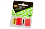Закладки самоклеящиеся POST-IT Study, пластиковые, 25 мм, 22 шт., красные, 680-R-LRU оптом