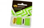 Закладки самоклеящиеся POST-IT Study, пластиковые, 25 мм, 22 шт., зеленые, 680-BG-LRU оптом
