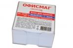 Блок для записей ОФИСМАГ в подставке прозрачной, куб 9*9*5, белый оптом