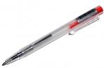 Ручка шариковая, автоматическая, «МИНИ», прозрачный корпус, цветная кнопка, МИКС оптом