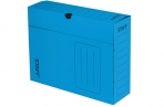 Короб архивный с клапаном А4 (260х325мм), 100мм, до 900л, микрогофрокартон, СИНИЙ, STAFF, 128864 оптом
