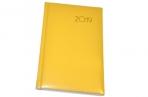 2019 Ежедневник дат, А5, BRAUBERG Select, кожа классик, желтый, 138*213мм, 129101 оптом