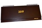 2019 Планинг настольный дат,  тв. переплет, обложка бумвинил, коричневый, 60л, 285*112мм, BRAUBERG, 129275 оптом