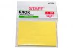 Блок самоклеящийся STAFF, 38х51 мм, 2х100 листов, желтый, 129344 оптом
